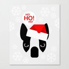 Santa Boston Terrier Canvas Print