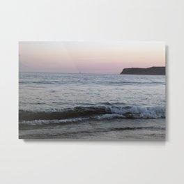 Coronado Island California beach at sunset pastel colors Metal Print
