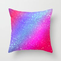 glitter Throw Pillows featuring glitter by haroulita