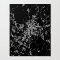 madrid Canvas Prints featuring Madrid by Line Line Lines