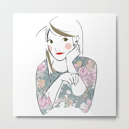 Lovely Girl Metal Print