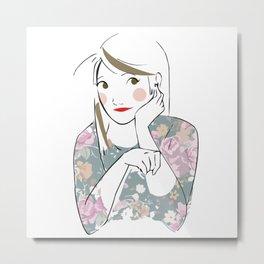Lovely Girl Metal Print