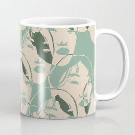 Stencil Faces Coffee Mug
