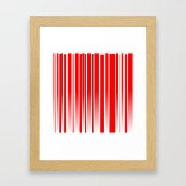 Red Track Framed Art Print