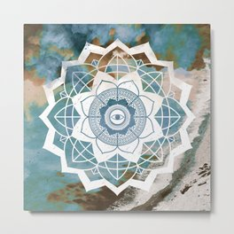 Nature Atmospheric Mandala Metal Print