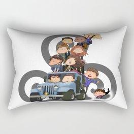 Puppy Pile Rectangular Pillow