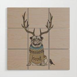 Deer Pug Wood Wall Art