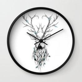 Poetic Deer Wall Clock