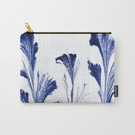 Painted Flowers In Blue Carry-All Pouch
