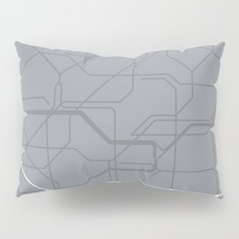 London Underground Jubilee Line Route Tube Map Pillow Sham