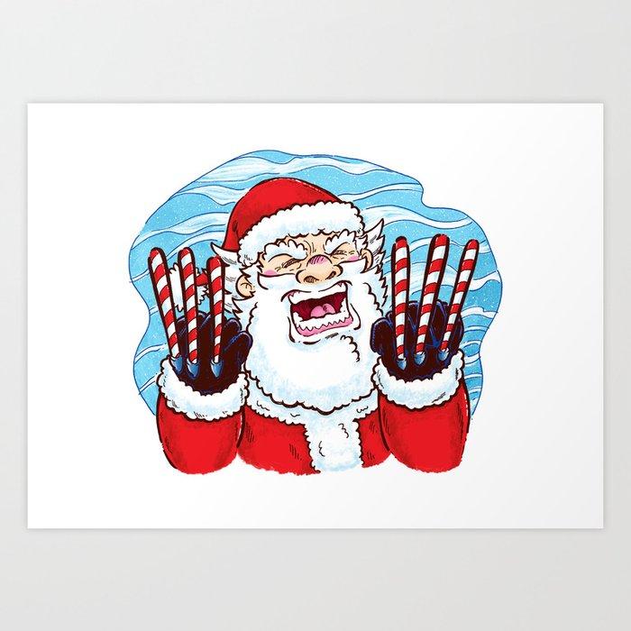 Santa Claws Art Print