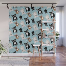 Frenchie Lover French Bulldog Pattern Wall Mural