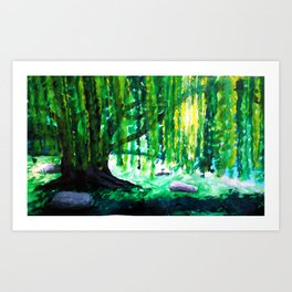 Don't Weep Willow Art Print