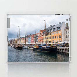 Nyhavn waterfront in Copenhagen Laptop & iPad Skin