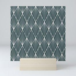 Peacock rhombus pattern Mini Art Print