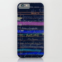 Library Card 3503 Exploring the Moon Negative iPhone Case