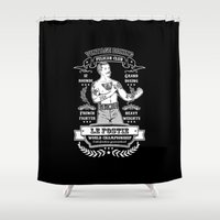 boxing Shower Curtains featuring Vintage Boxing - Black Edition by T-SIR | Oscar Postigo
