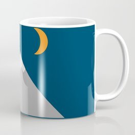 Mountain and Crescent Moon Illustration Coffee Mug