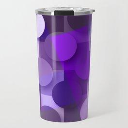 squares & dots violet Travel Mug