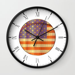 Tennis Stars And Stripes Wall Clock