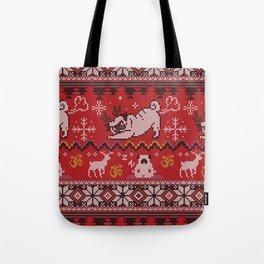 Pugly Yoga X-Mas Tote Bag