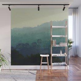 Shades of Green Wall Mural