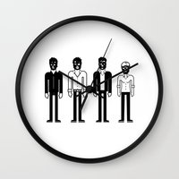talking heads Wall Clocks featuring Talking Heads by Band Land