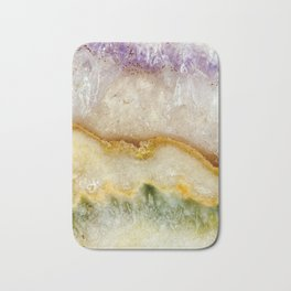 Striated Amethyst in Purple Gold & Green Bath Mat