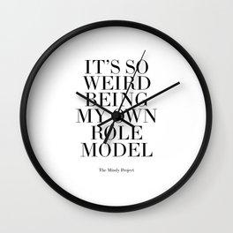 Printable Art,Role Model,Fashion Print,Fashionista,Quote Prints,Home Decor,Wall Art Wall Clock