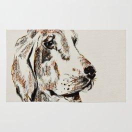 dog portrait Rug