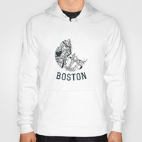 boston Hoodies featuring Boston by Sophie Calhoun