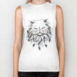 Poetic Persian Cat Biker Tank