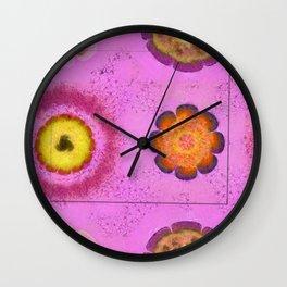 Verisimilitude Undraped Flowers  ID:16165-124635-29541 Wall Clock