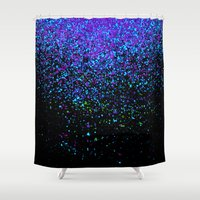 gravity Shower Curtains featuring gravity by Bunny Noir