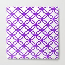 Interlocking Purple Metal Print