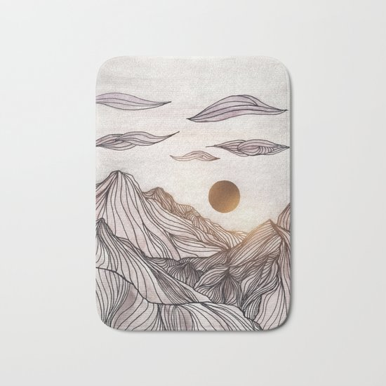 Lines in the mountains Bath Mat