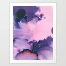 water color wave II COLLAB DYLA Art Print
