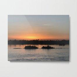 Nile at sunset Metal Print