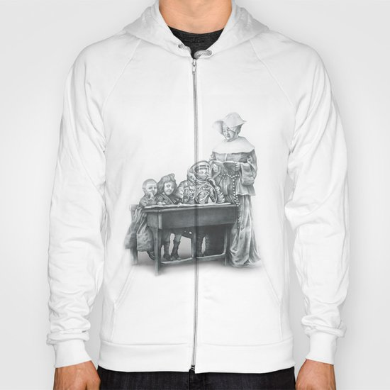 In which a cosmonaut is rendered quizzical Hoody