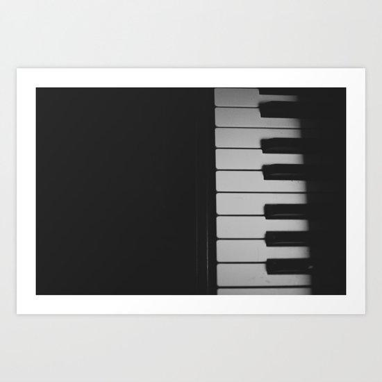 Piano Keys II ANALOG ZINE Art Print