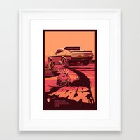 my mad fat diary Framed Art Prints featuring Mad Max by Mike Wrobel