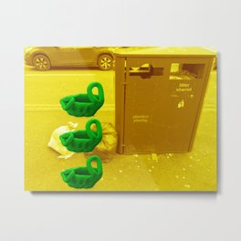 Rubbish (Yellow/Green) Metal Print