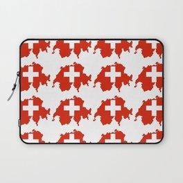 flag Switzerland 3-,Swiss,Schweizer, Suisse,Helvetic,zurich,geneva,bern,godard,heidi Laptop Sleeve