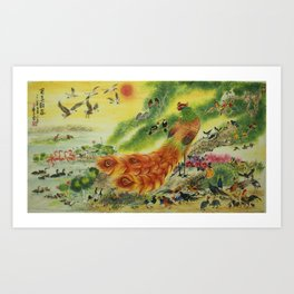 100 Birds (Variety A) Art Print