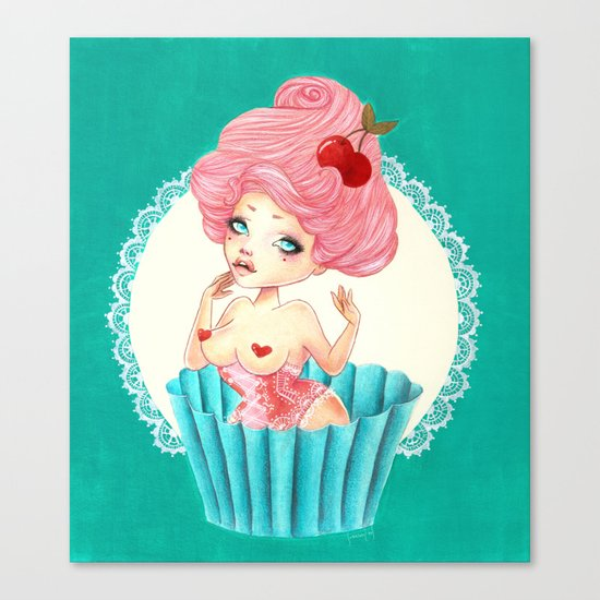 Cupcake Girl Canvas Print