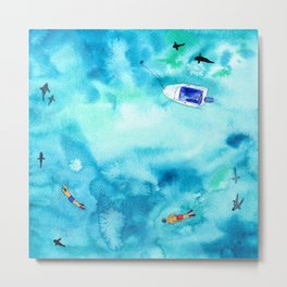 One summer day || watercolor Metal Print