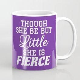 Little & Fierce (Purple) Coffee Mug