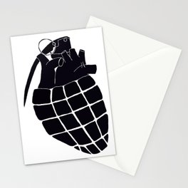 Heart Grenade II Stationery Cards