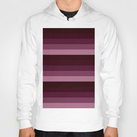 burgundy Hoodies featuring burgundy stripes by SimplyChic