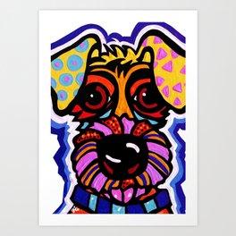 Rover Terrier Dog Airedale Wheaton Lakeland Kerry Schnauzer Fox Puppy Pet Animal Art Print
